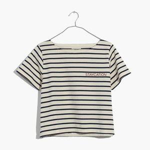 MADEWELL Embroidered Setlist Staycation Boxy Tee